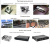 Customised design amp audio amplifier die cast aluminium extrusion profile enclosure