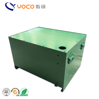 Customized steel fuel tank with powder coating