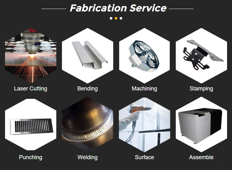 Custom stainless steel high quality sheet metal fabrication