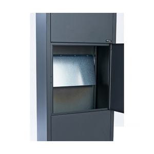 parcel locking insert inside mailbox locker with locks stainless